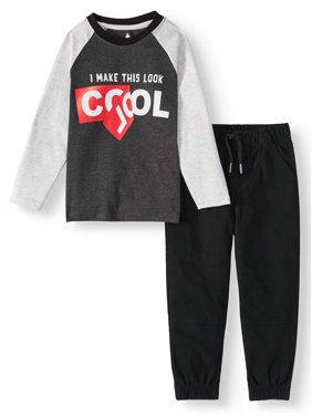 e2ddbb726 Product Image 365 Kids from Garanimals Long Sleeeve Raglan T-Shirt & Solid  Jogger, 2-