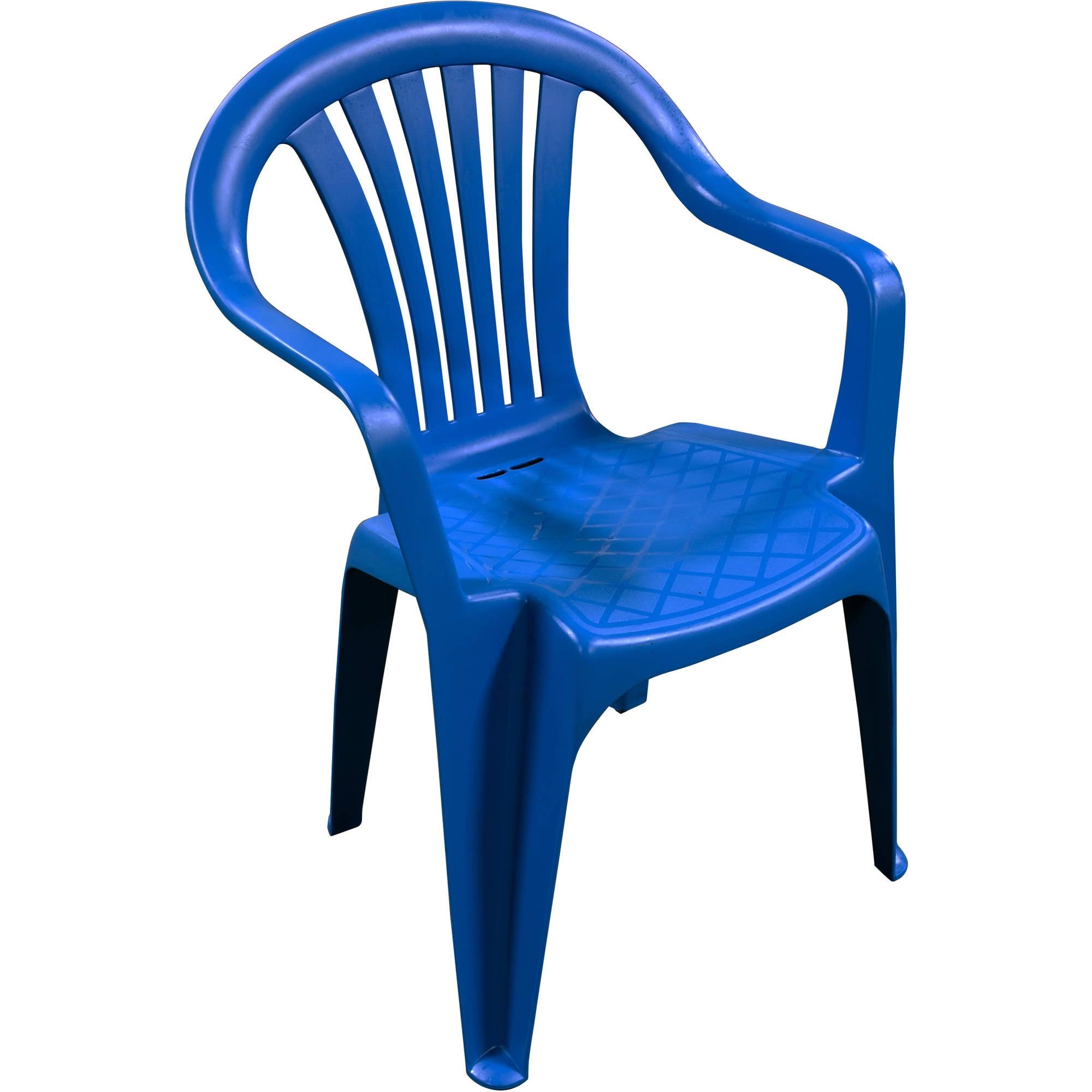 Adams Manufacturing Low Back Chair, Patriotic Blue