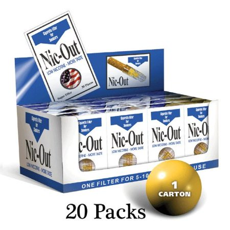 Nic-Out Cigarette Filters For Smokers, 30 Filters - 20 Packs