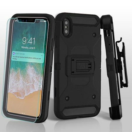Apple iPhone Xs Max (6.5 Inch) Phone Case Combo TUFF Hybrid Kinetic Armor  Rugged 532ced018f