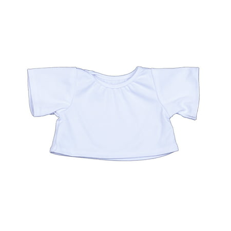 White T-Shirt Outfit Teddy Bear Clothes Fits Most 14