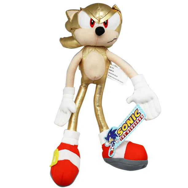 Sonic The Hedgehog Super Sonic Gold Sonic Plush Toy 12in Walmart Com Walmart Com