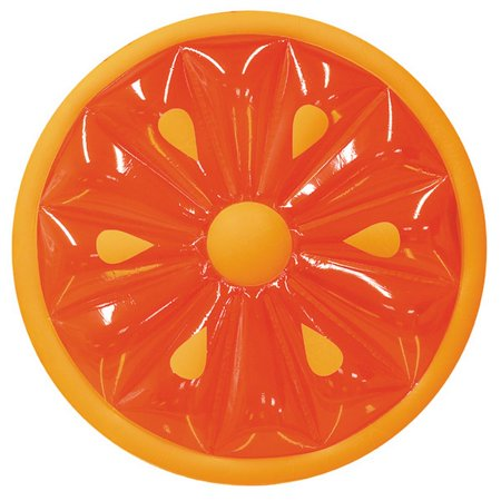 Swimline Inflatable Fruit Slice Island Pool Float Orange