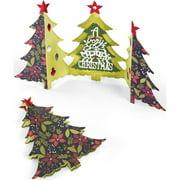 Sizzix Thinlits Die Set 6PK Card Christmas Tree Fold by Jen Long