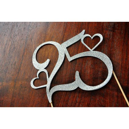 25th Anniversary Cake Topper. Ships in 1-3 Business Days. 25 Cake Topper.](25 Anniversary)