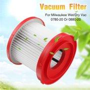 HEPA Filter Kit For Milwaukee Wet/Dry Vacuums 0780-20 Or 0880-20 Plastic 13*11cm