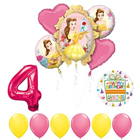 Beauty and The Beast 4th Birthday Party Balloon supplies decorations (Beauty And The Beast Party)