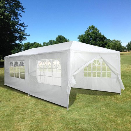 Yescom 20 39 x10 39 white outdoor wedding party patio w for How to build a wall tent