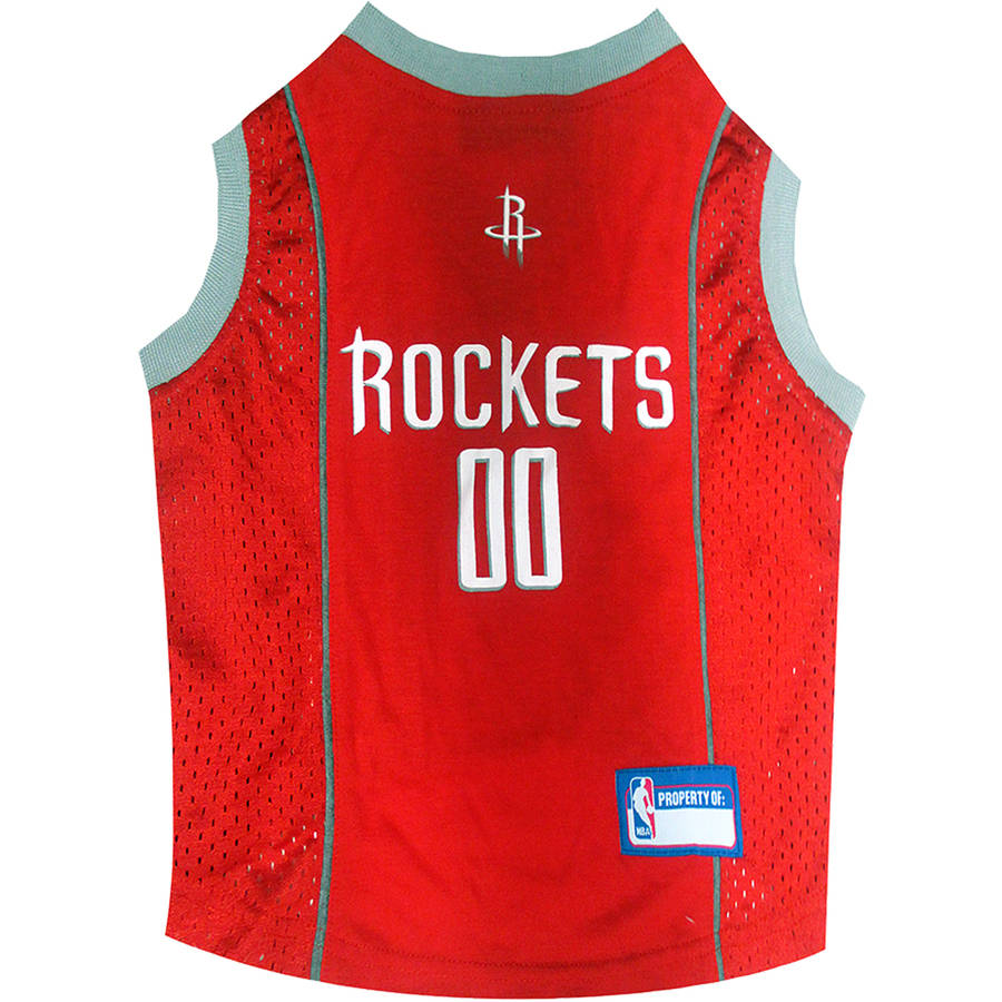Pets First NBA Houston Rockets Mesh Basketball Dog Jersey, Available in Various Sizes