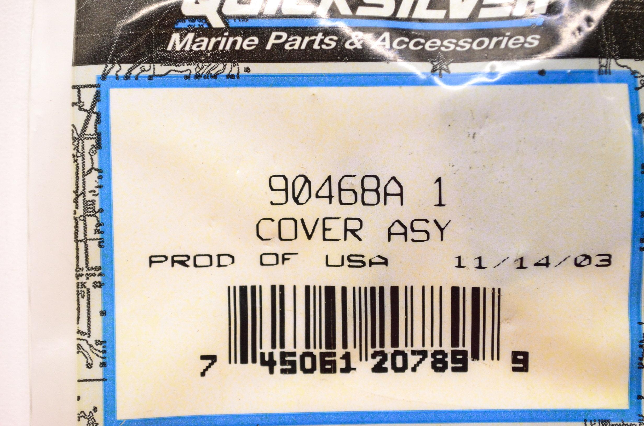 New Mercury Mercruiser Quicksilver Oem Part # 90468A 1 Cover Assy