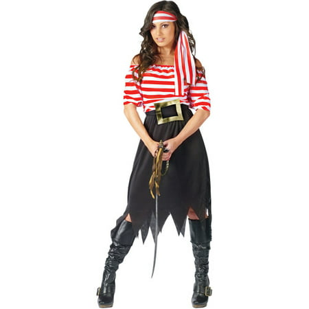 Pirate Maiden Adult Halloween Costume - Pirate Hairstyles For Halloween
