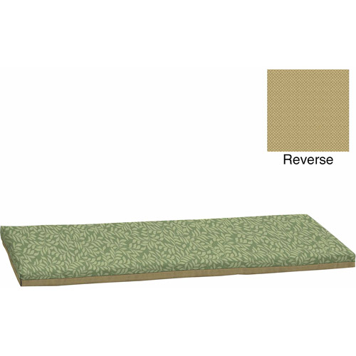 mainstays outdoor bench cushion green leaf - Outdoor Bench Cushion