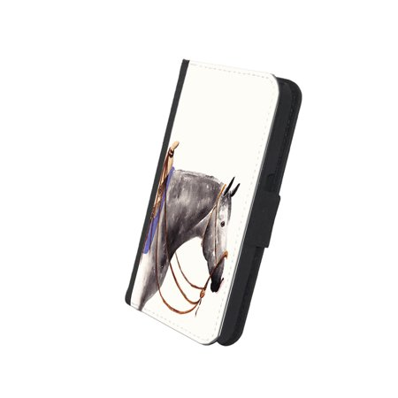 KuzmarK™ Samsung Galaxy S6 Wallet Case - Dappled Gray Quarter Horse Art by Denise Every