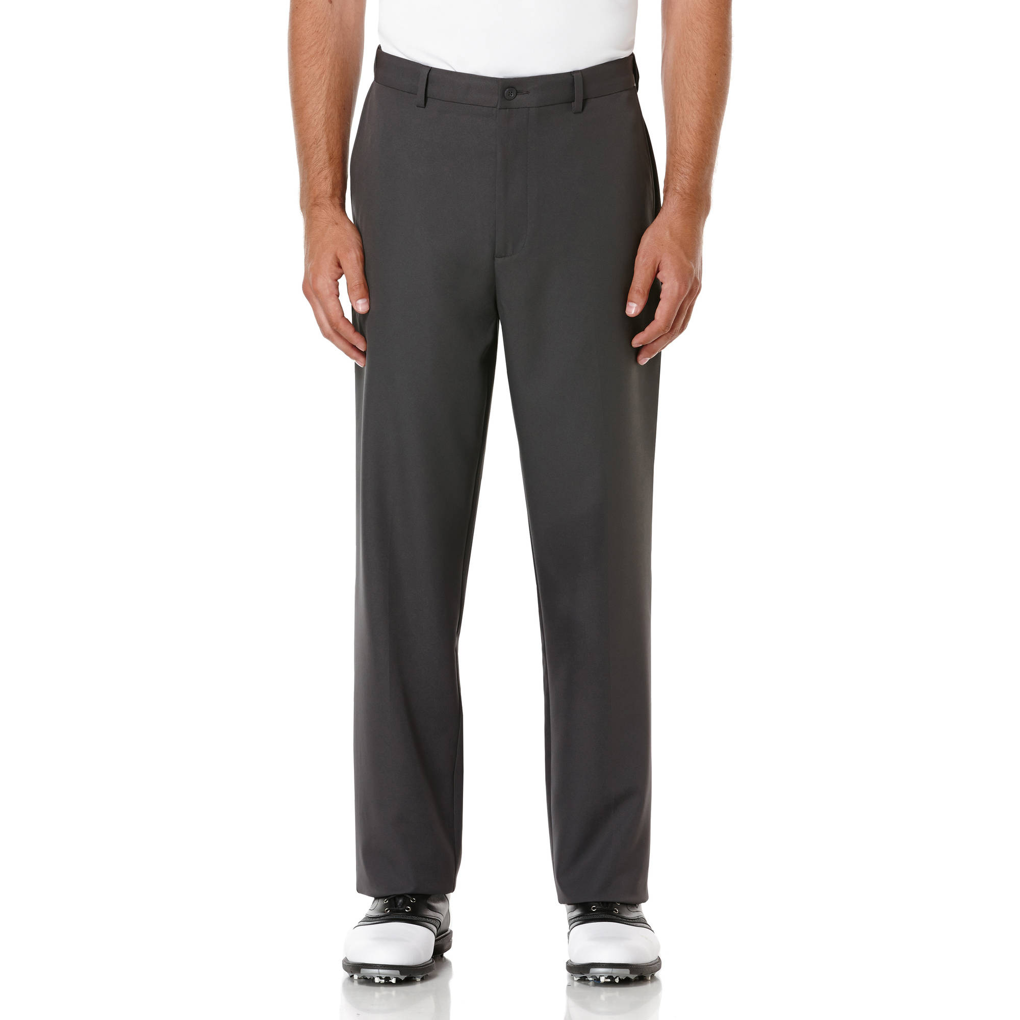 Men's Golf Performance Flat Front Expandable Waistband Pant by Generic