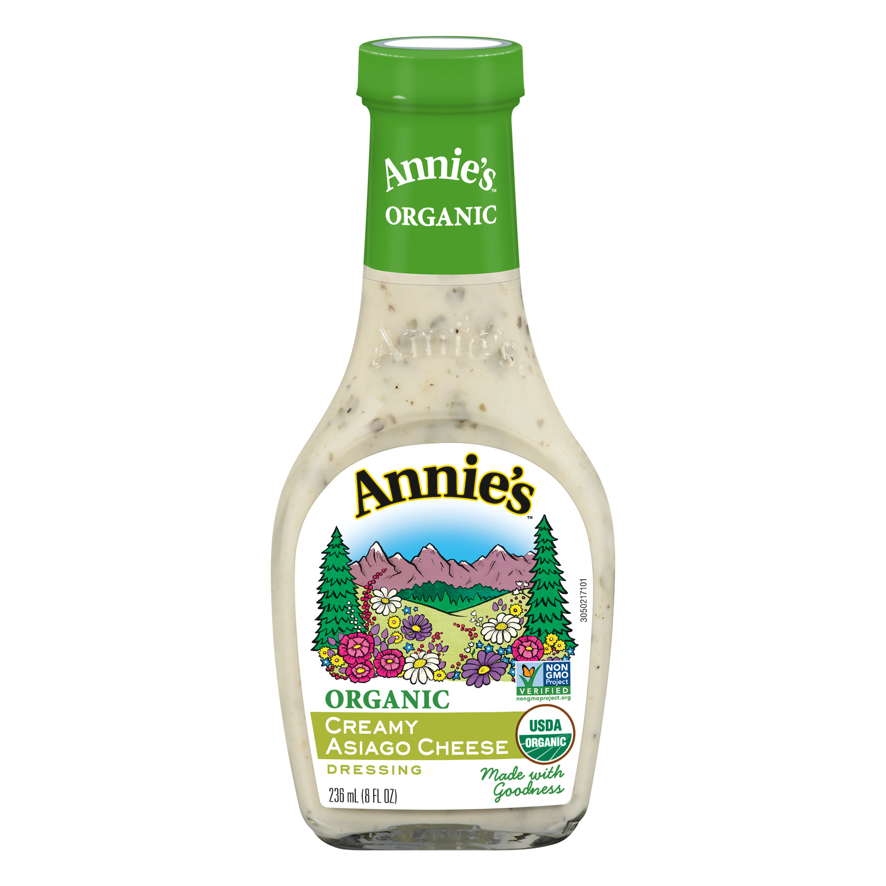 Annie's Organic Creamy Asiago Cheese Dressing, 8 fl oz