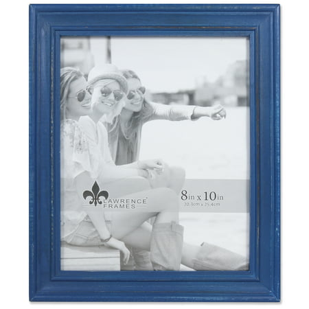 - 8x10 Durham Weathered Navy Blue Wood Picture Frame
