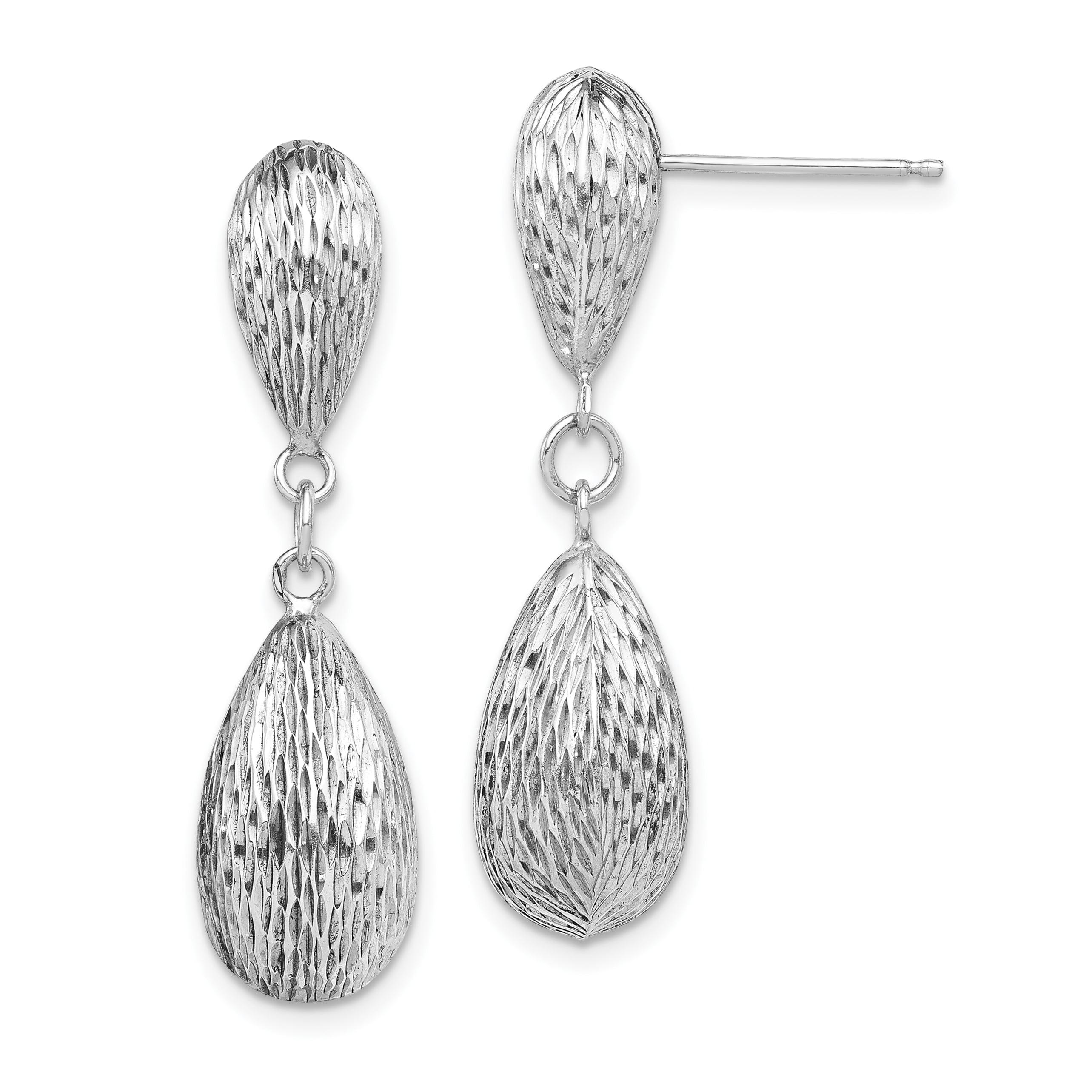 Solid 925 Sterling Silver Dolphin//Heart Earrings 8mm x 9mm