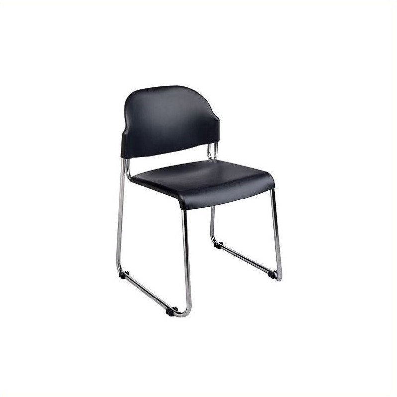 Work Smart 2-Pack Stack Chair with Plastic Seat and Back, Blue