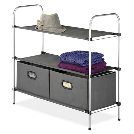 Whitmor Closet 3 Tier Shelves With 2 Drawers Image 1 of 2