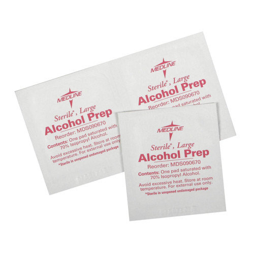 Medline Sterile Alcohol Prep Pads (Set of 4)
