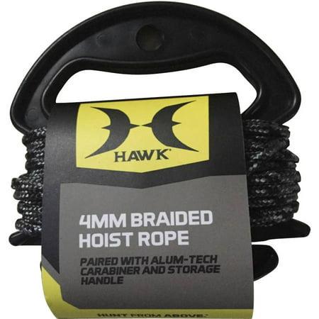 4mm Braid Hoist Rope, Black/Grey