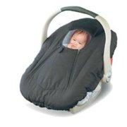 Jolly Jumper Deluxe Sneak-A-Peek Carseat Cover - Black