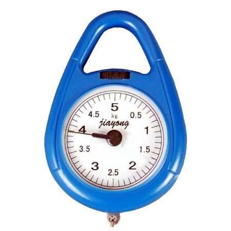 Spring Balance Scale - Portable Fishing Scale Luggage Scale Hanging Scale Spring Balance Kitchen Household Scale (Random Color)