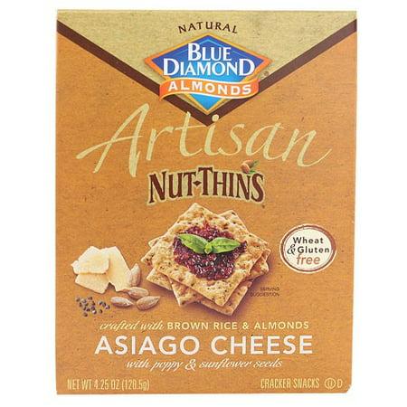 Artisan Nut Thins Crackers, Asiago Cheese 4.25 oz Box