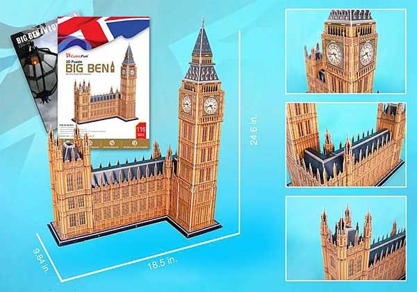 Big Ben 116 Piece 3D Puzzle With Book by