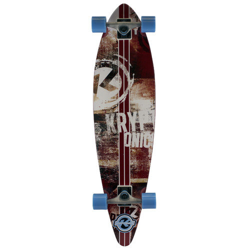 Bravo Sports Kryptonics Pintail Longboard 37'' Complete Skateboard