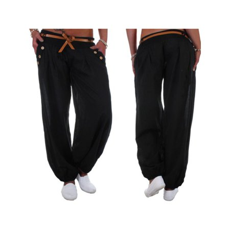 Women Ali Baba Harem Trousers Ladies Plus Size Baggy Aladdin Boho Hippy Pants - Aladdin Harem Girls