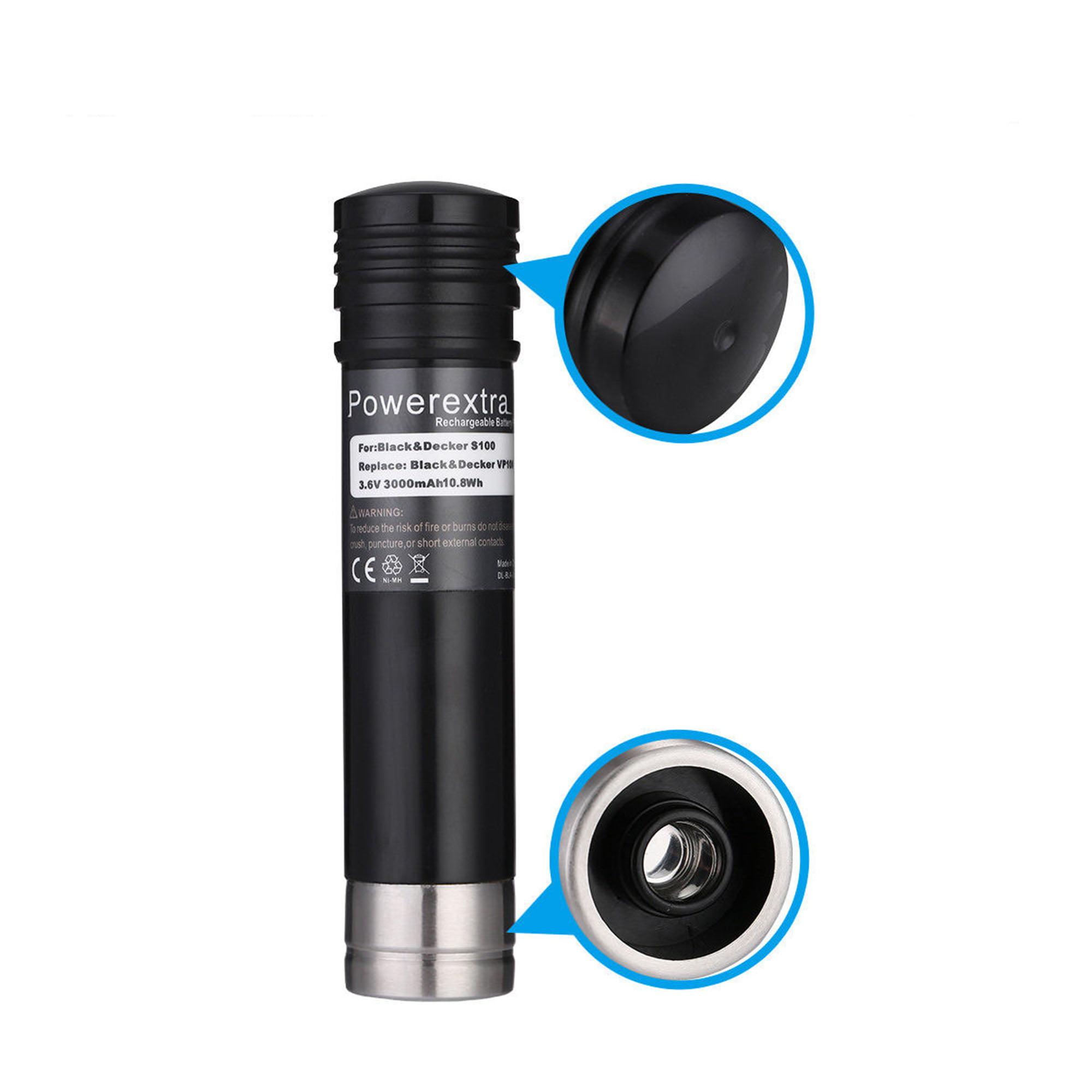 Powerextra 2-Pack 3000mAh 3 6V Replacement Battery for Black&Decker  Versapak Vp100, Vp105, Vp110, Vp142, Vp7240 Sears-Craftsman Pivot180,  PLR36NC,
