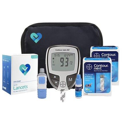 OWell Bayer Contour NEXT EZ Complete Diabetes Blood Glucose ...
