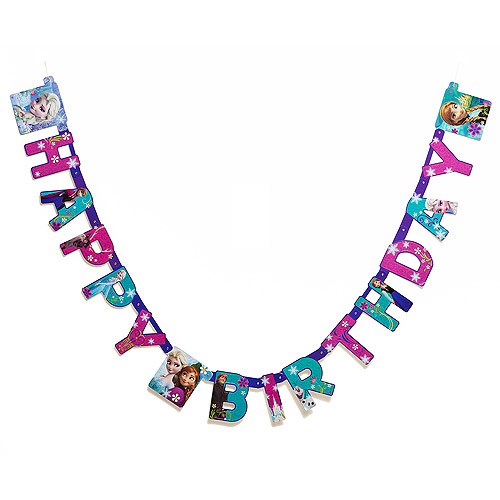 Frozen Birthday Party Banner, Party Supplies