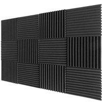 12/24/36/48/96 Pack 12''x12''x1'' Acoustic Panels Soundproof Studio Foam Sound Dampening Noise Sound Deadening foam Sound Panels Wedges Sound Proof Sound Insulation Absorbing