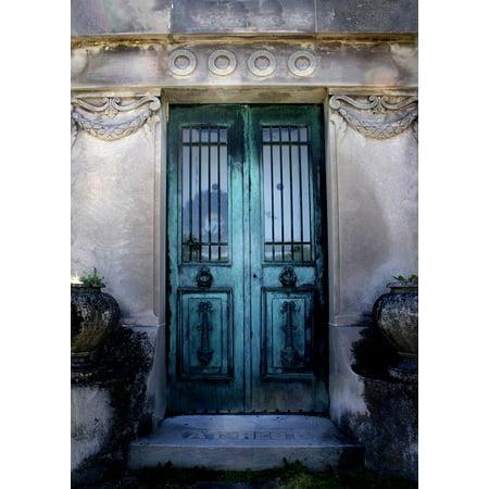 LAMINATED POSTER Door Ornate Entry Mausoleum Vintage Doorway Poster Print 24 x 36