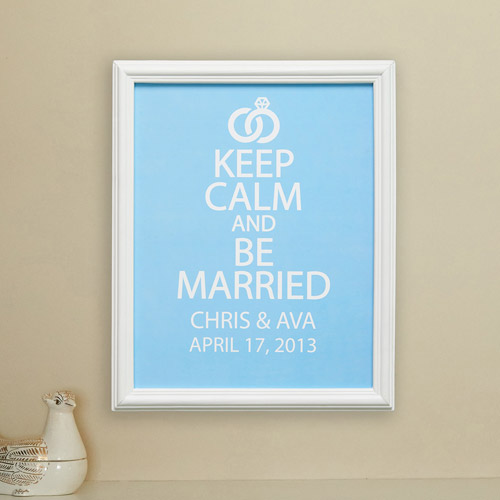 """Personalized Keep Calm and Be Married 11"""" x 14"""" Print"""