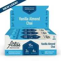 Atlas Bar, Keto Friendly & Grass Fed Whey Protein Bar, Vanilla Almond Chai, 16g Protein, 10 Bars
