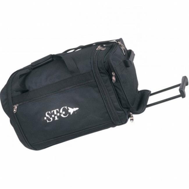 DDI 1923580 Rolling Duffel Bag, Black - Style No. 9030
