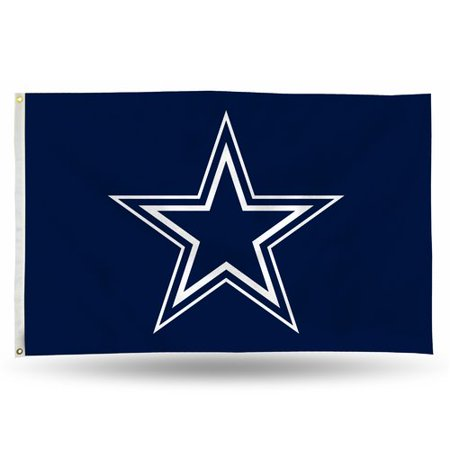 Rico Industries NFL 3' x 5' Banner Flag, Dallas - Blue Checkered Flag