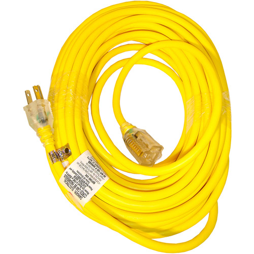 Sun Joe Power Joe 14/3 50' SJTW Outdoor Extension Cord with Lighted End, Yellow