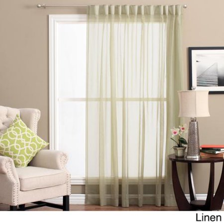 Curtains Ideas 86 inch curtain panels : Lucerne Wanda Pleat Back Tab Patio Curtain Panel 104 inches x 84 ...