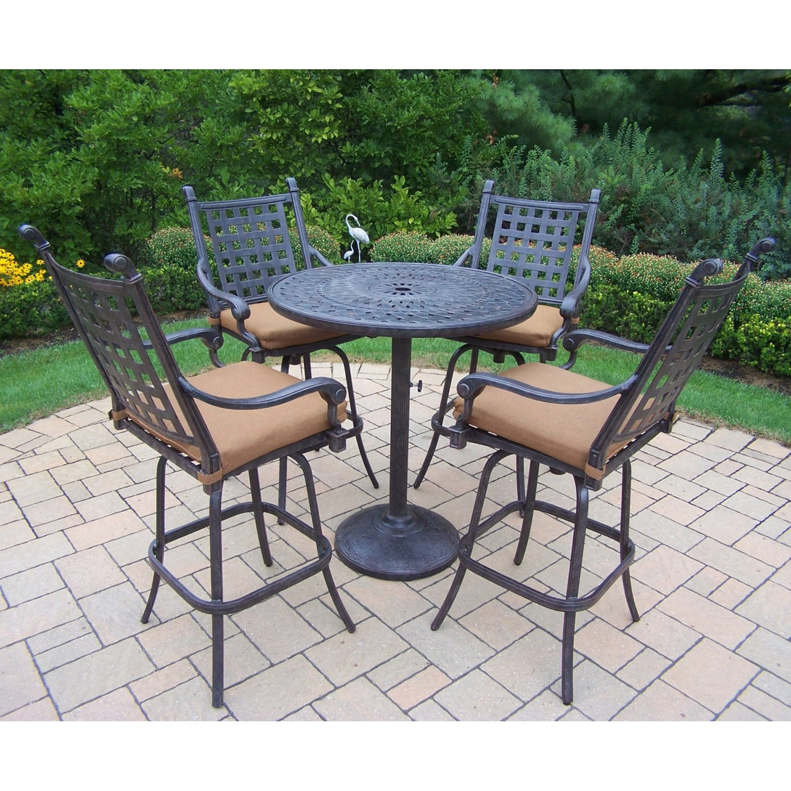 Oakland Living Belmont 5 Piece Bar Height Patio Dining Set ... on Oakland Living Patio Sets id=45380