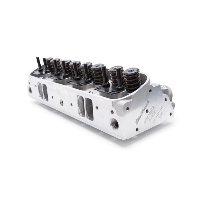Edelbrock 61575 Performer D-Port Head - 87cc Assembled for Pontiac - image 1 de 1