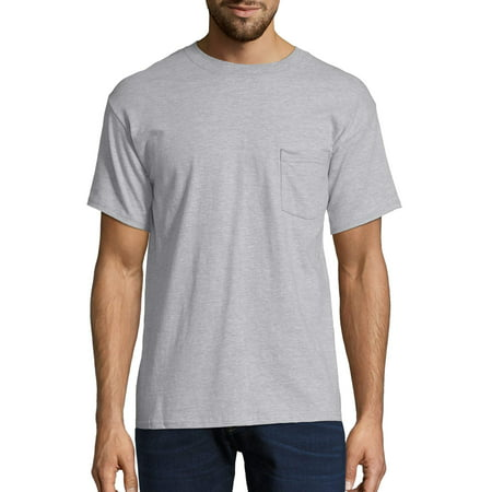 Hanes Men's Tagless Short Sleeve Pocket T-Shirt