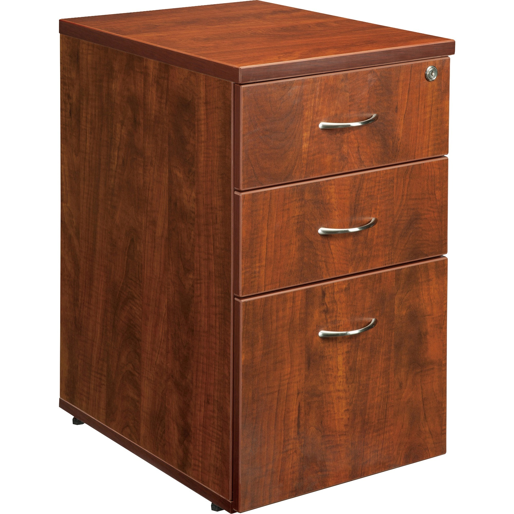 3 Drawers Vertical Wood Composite Lockable Filing Cabinet ...