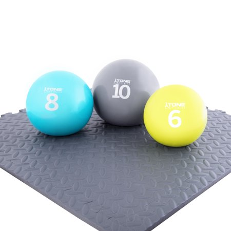 Tone Fitness Soft Weighted Ball, Assorted Weight