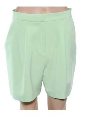Womens Shorts Neon Casual Pleated Stretch 6