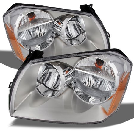 Fit 2005-2007 Dodge Magnum SE SRT SXT RT Clear Replacement Headlights -