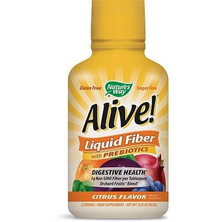 Way Nature Alive! Liquid Fiber avec prébiotiques Citrus, 16,0 FL OZ